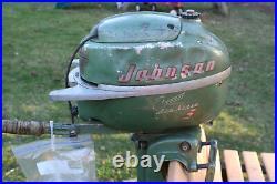 Vintage Johnson Outboard 3HP model JW-10