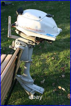 Vintage Johnson Outboard 3HP model JW18R