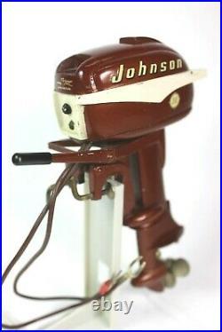 Vintage K&O 1950's JOHNSON 30 hp Toy Outboard Model Boat Motor