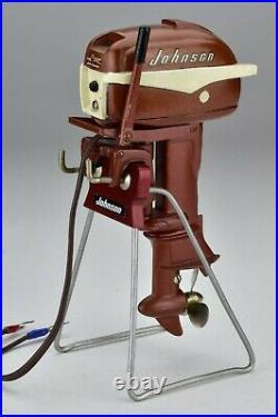 Vintage K&O 1956 Johnson 30 HP Toy Outboard Model Boat Motor Runs