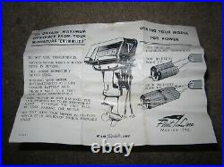 Vintage K&O 1959 Evinrude Fleet Line Lark 35 hp Toy Outboard Motor Model Boat