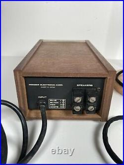 Vintage PIONEER SE-100 Electret Headphones +JB-100 Electret HP Adapter