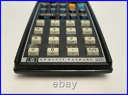 Vintage Rare HEWLETT-PACKARD HP Model HP-33C Calculator With Box Case AC