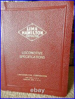 Vintage Rare Original 1950 Lima Hamilton Corp Locomotive Specifications 1200hp