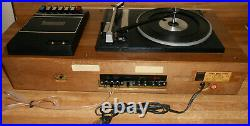 Vintage Sony HP-149A STEREO AM FM RECEIVER With TURNTABLE & CASSETTE CLEAN WORKS