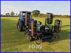 Vintage classic working 1973 leyland 270 tractor 70hp with Hayter TM lawn mower