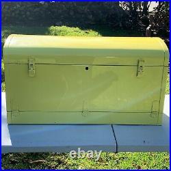 Vintagwe Original 1930 1935 Accessory Bi-Fold 36 Metal Yellow Auto Trunk