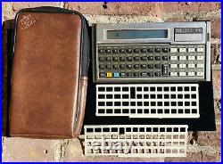 Vtg Hewlett Packard 71B Calculator with Case, 2 Overlays & 82401A HP-IL Interface
