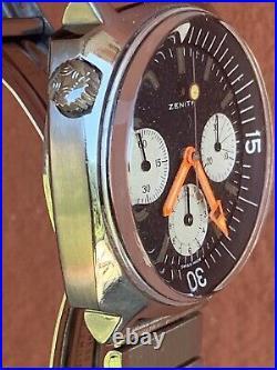 Zenith Super Sub Sea Chrono A3736 146hp Vintage Diver Watch Panda Dial Big Arrow